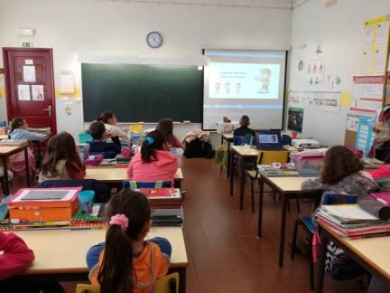 2ª visita de acompanhamento, alunos de 1º ciclo, Lagoa, fevereiro 2017