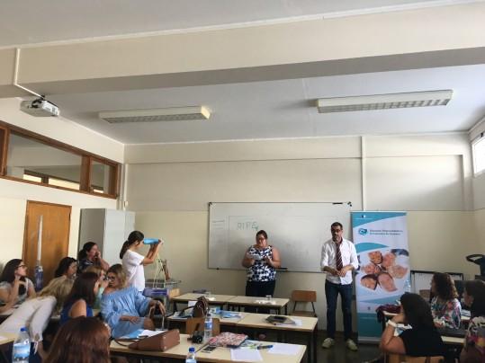Trabalho de grupo na formação de professores, setembro 2017