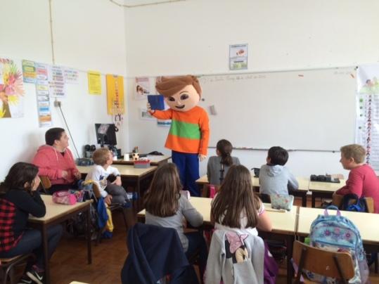Visita dos Gaspar a 1 escola de 1º ciclo
